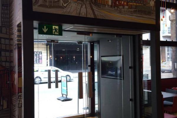 Frameless Glass Entrance